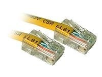 C2G Cat5e 350MHz Snagless Patch Cable Yellow 1ft 10-Pack