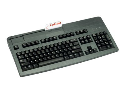 Cherry PS 2 Keyboard with 3-Track MSR, US 104-Key Layout , Mechanical Switches - Black