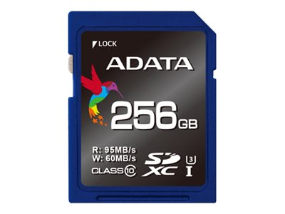 A-Data 256GB Premier Pro SDXC UHS-I Flash Memory Card, Class 10