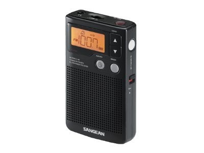 Sangean AM FM Stereo Speaker Clock Radio, DT-200X, 9991306, Clock Radios
