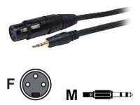 Comprehensive Stereo 3.5mm Mini to 3-Pin XLR M F Cable, 6ft