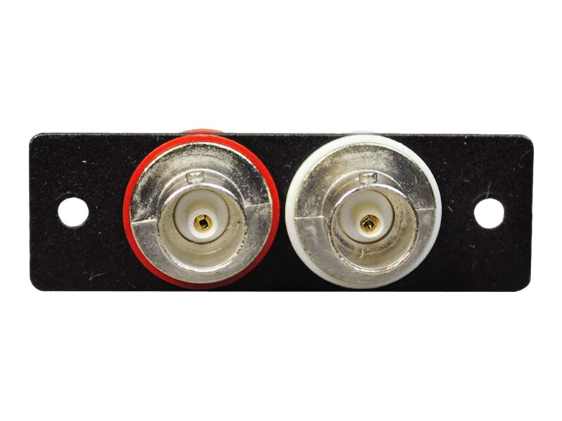 C2G Wiremold Audio Video Interface Plate (AVIP) (2) BNC Female to Female Barrels