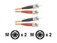 Panduit ST-ST 62.5 125 OM1 Multimode Duplex Riser Fiber Cable, 2m