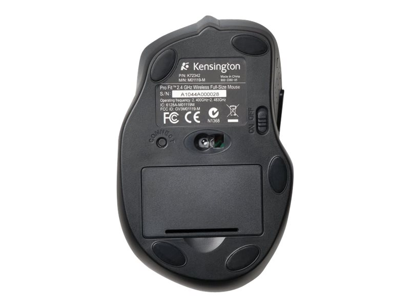Kensington Profit Wireless 2.4GHz Ergonomic Full Size Mouse, K72370US