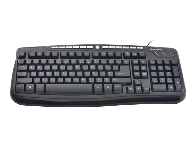 Gear Head 116-Key USB Media Pro III Keyboard, (13) Internet MM Hot Keys, KB3850MPU