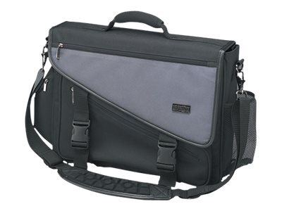 Tripp Lite Profile Notebook Briefcase, Nylon, Gray Black, NB1001BK, 6348921, Carrying Cases - Notebook