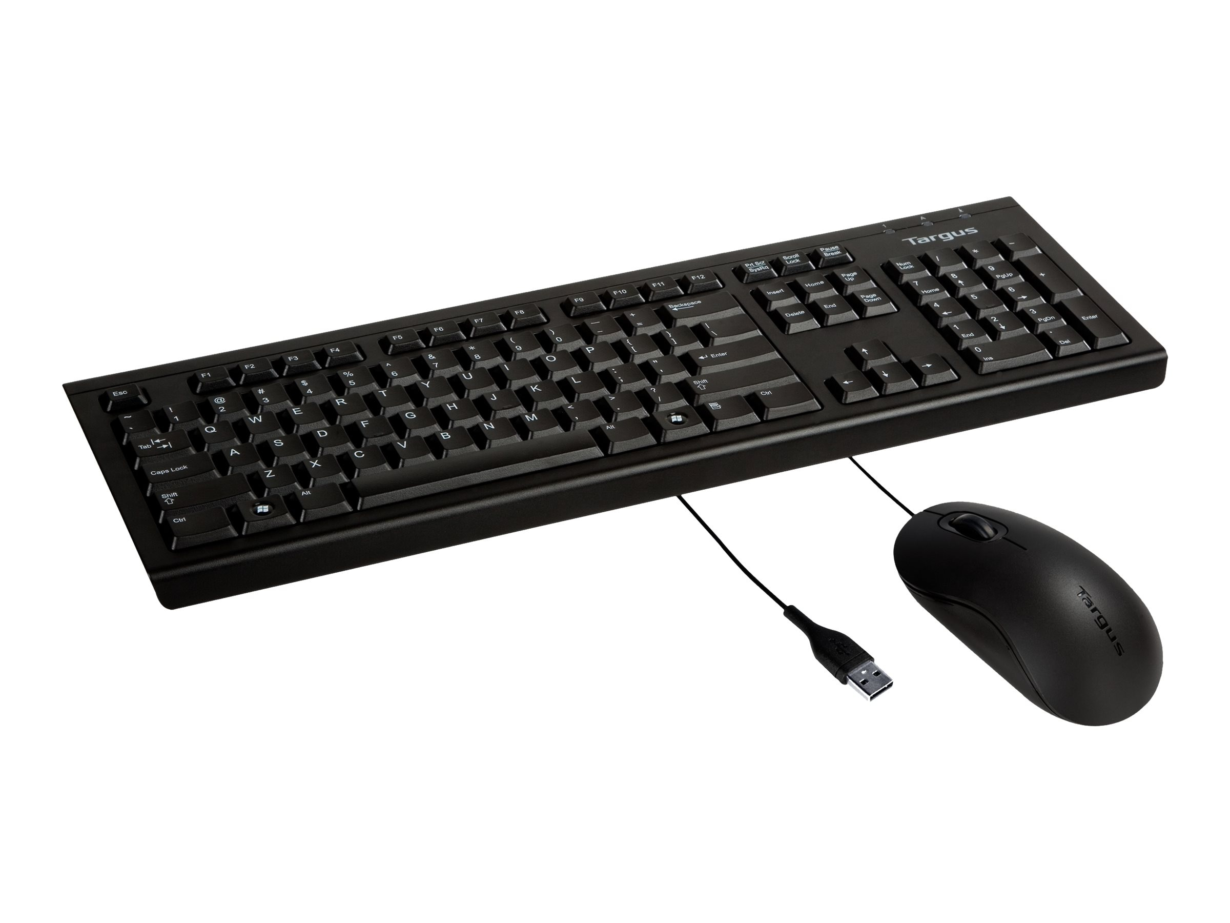 Targus Corporate Keyboard plus 3-button USB Full Size Optical Mmouse, BUS0067B