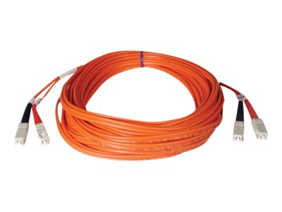 Tripp Lite Fiber Optic Cable, SC-SC, 50 125, Duplex Multimode, 50m, N506-50M, 454643, Cables