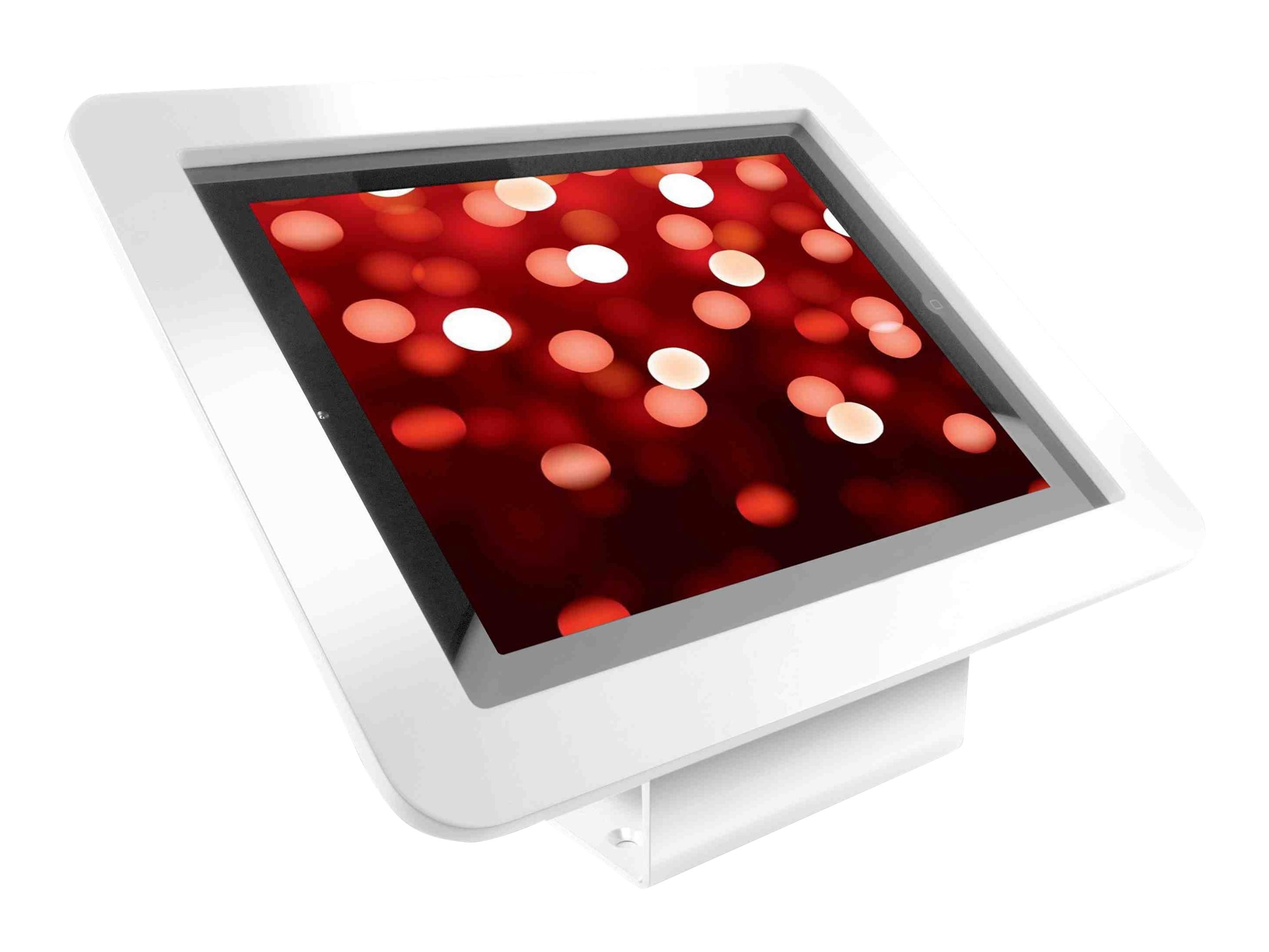 Compulocks iPad Enclosure Kiosk Wall or Desk Mount, Executive,  iPad Kiosk fits iPad 2 3 4 , White