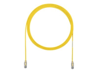 Panduit Cat6e 28AWG UTP CM LSZH Copper Patch Cable, Yellow, 2ft