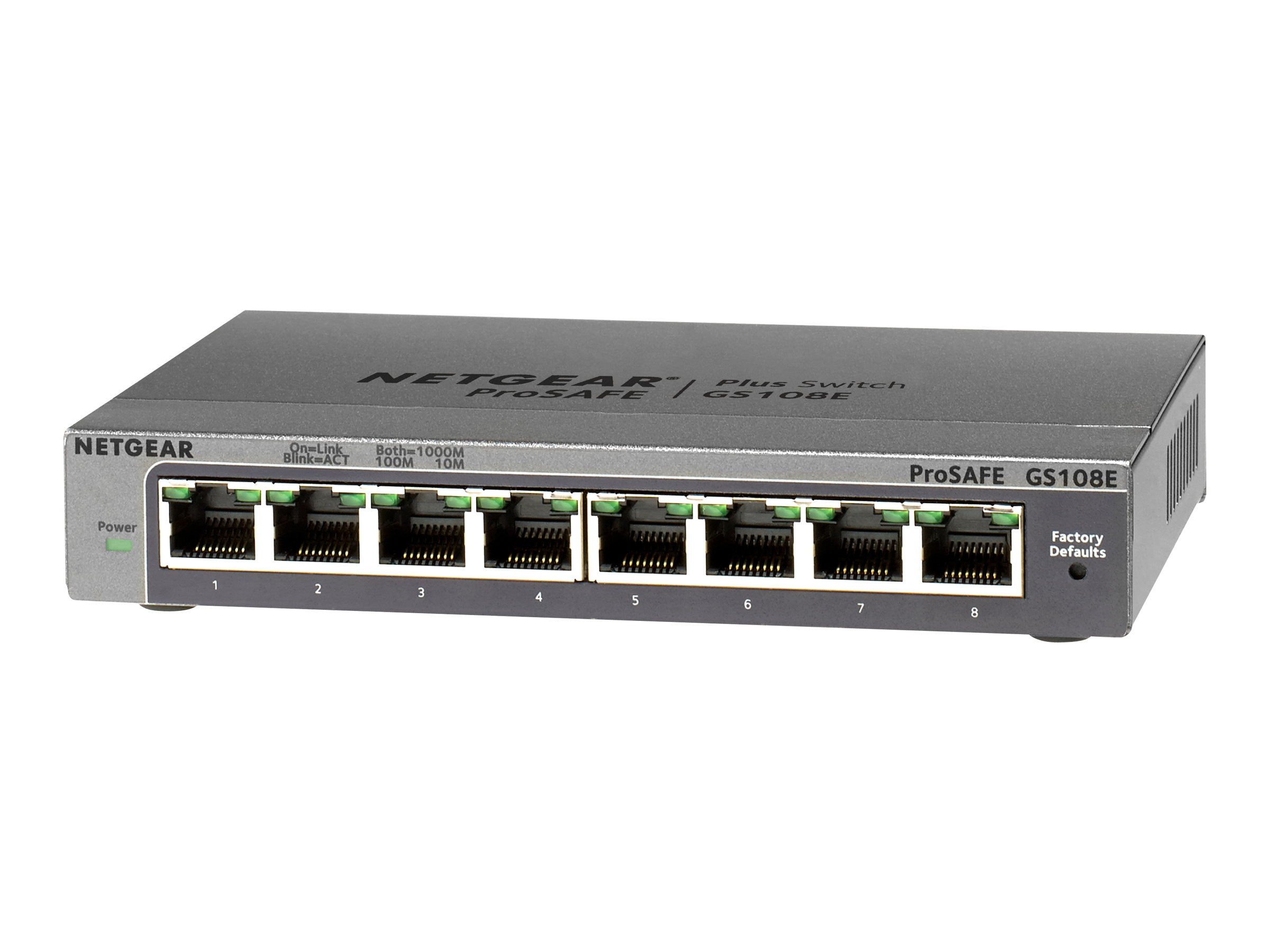 Netgear 8-port ProSafe Gigabit Plus Switch, GS108E-300NAS