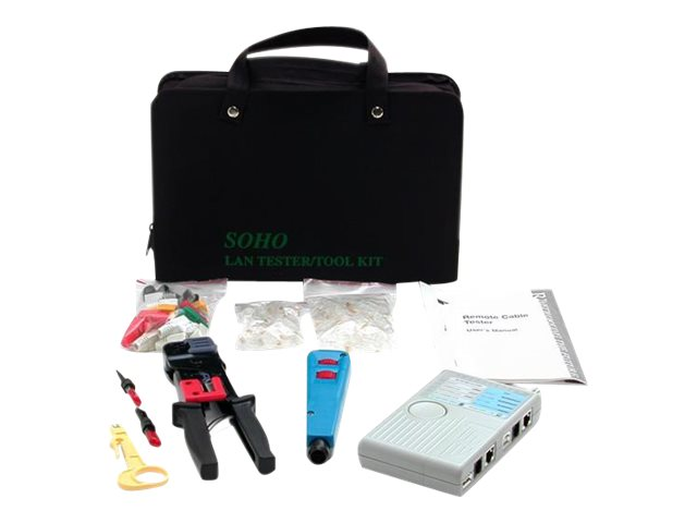 StarTech.com Professional RJ45 Network Installer Tool Kit with Carrying Case, CTK400LAN