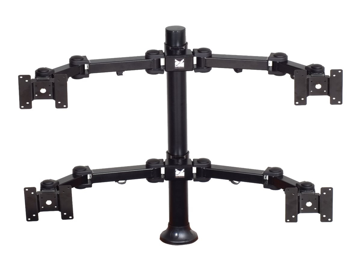 Premier Mounts (2) Dual Display Arms on 28 Tube with Grommet Base, Black, MM-AH284, 31097183, Stands & Mounts - AV