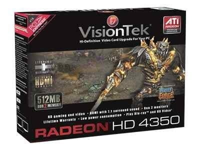 VisionTek Radeon HD 4350 PCIe Graphics Card, 512MB DDR2, 900270, 10331858, Graphics/Video Accelerators