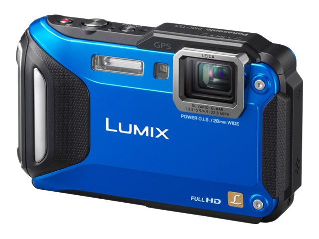 Panasonic Lumix DMC-TS5 Tough Digital Camera, 16.1MP, 9.3x Zoom, Blue, DMC-TS5A