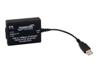 Transition USB2.0 TO 100BASE-FX Ethernet MM SC 2KM