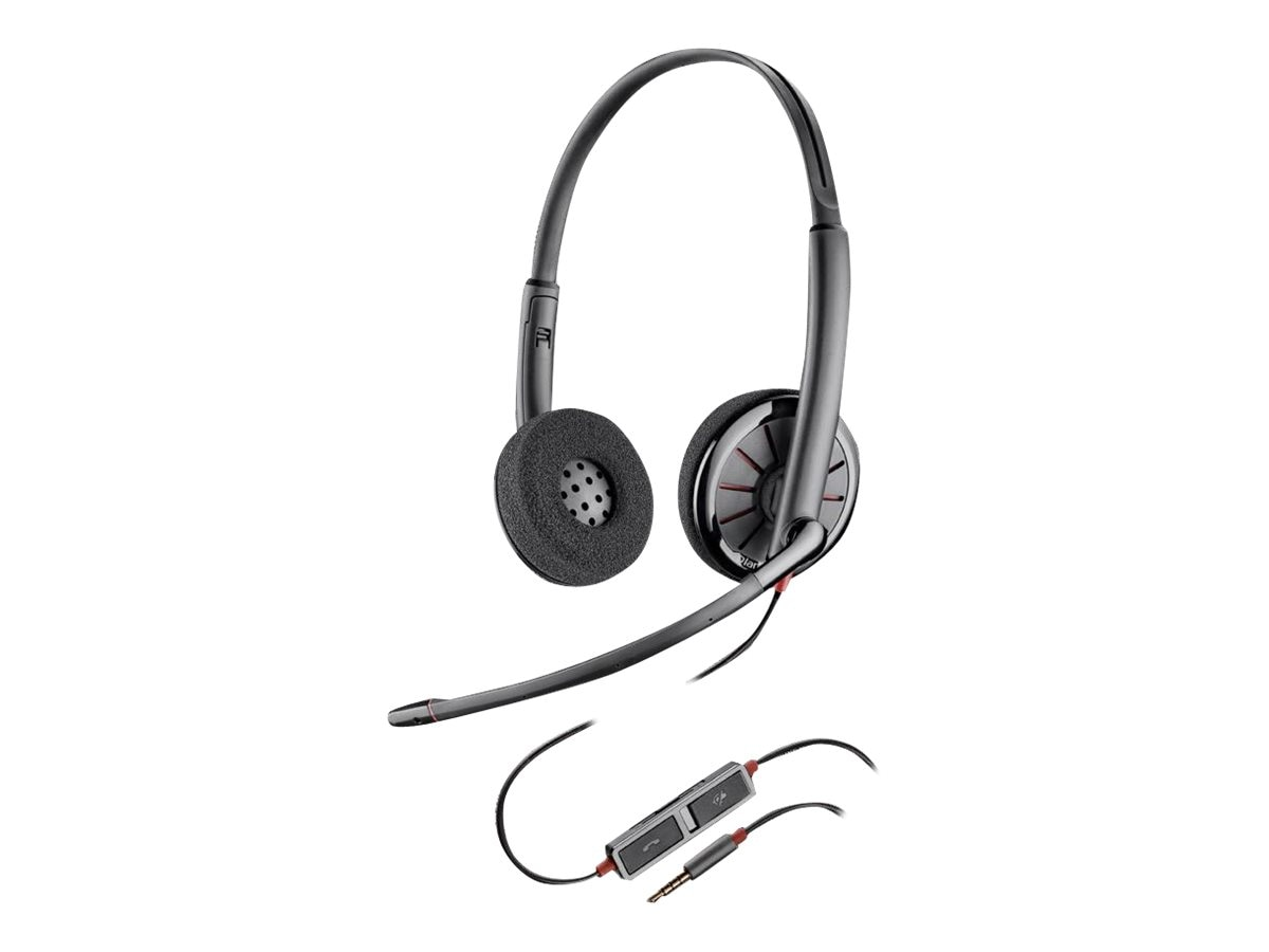Plantronics BlackWire 225 Stereo Headset, 205204-02