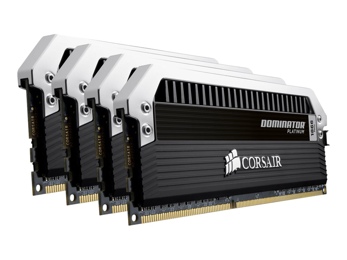 Corsair 32GB PC3-17000 DDR3 SDRAM DIMM Kit, CMD32GX3M4A2133C9, 14646187, Memory