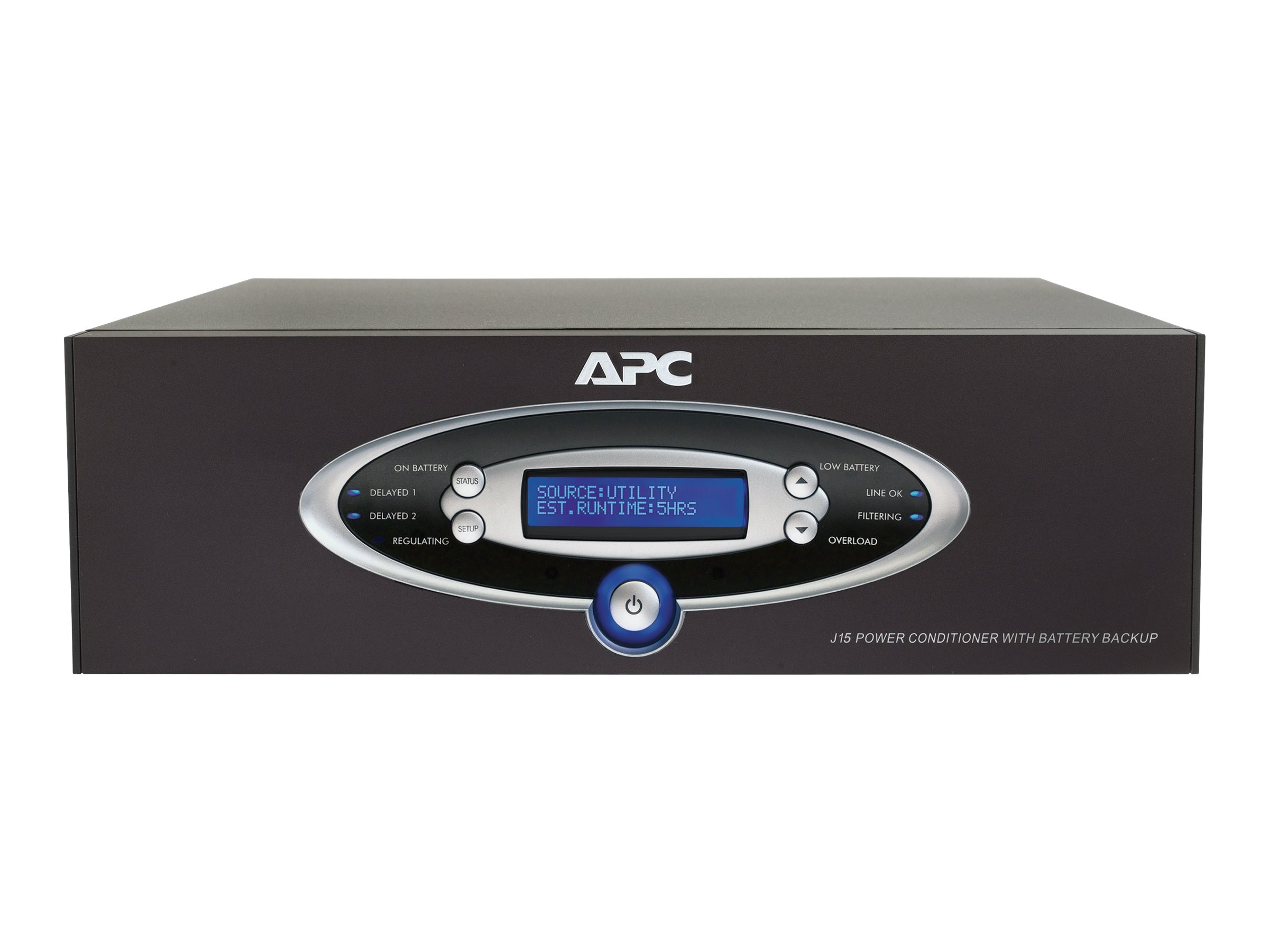 APC AV 1.5kVA Power Conditioner with Battery Backup 120V Line Interactive Black