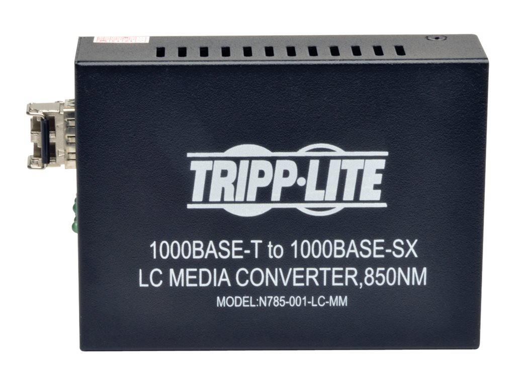 Tripp Lite 10 100 1000 LC Multimode Media Converter, 550M, 850nm, N785-001-LC-MM