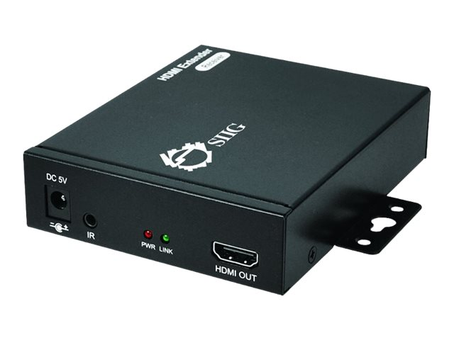 Siig HDMI Over Gigabt IP Extender w  IR Receiver, CE-H22911-S1, 17713154, Video Extenders & Splitters