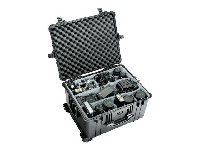 Pelican 1620 Large Wheeled Transport Case with Foam, Black, 1620-020-110, 12371757, Carrying Cases - Other