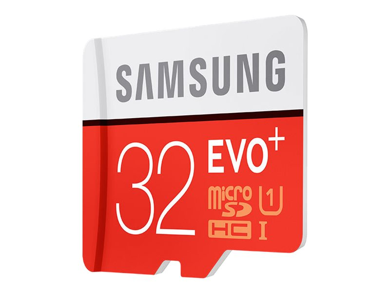 Samsung 32GB Micro SDHC EVO+ Flash Memory Card with Adapter, Class 10, MB-MC32DA/AM, 25756242, Memory - Flash