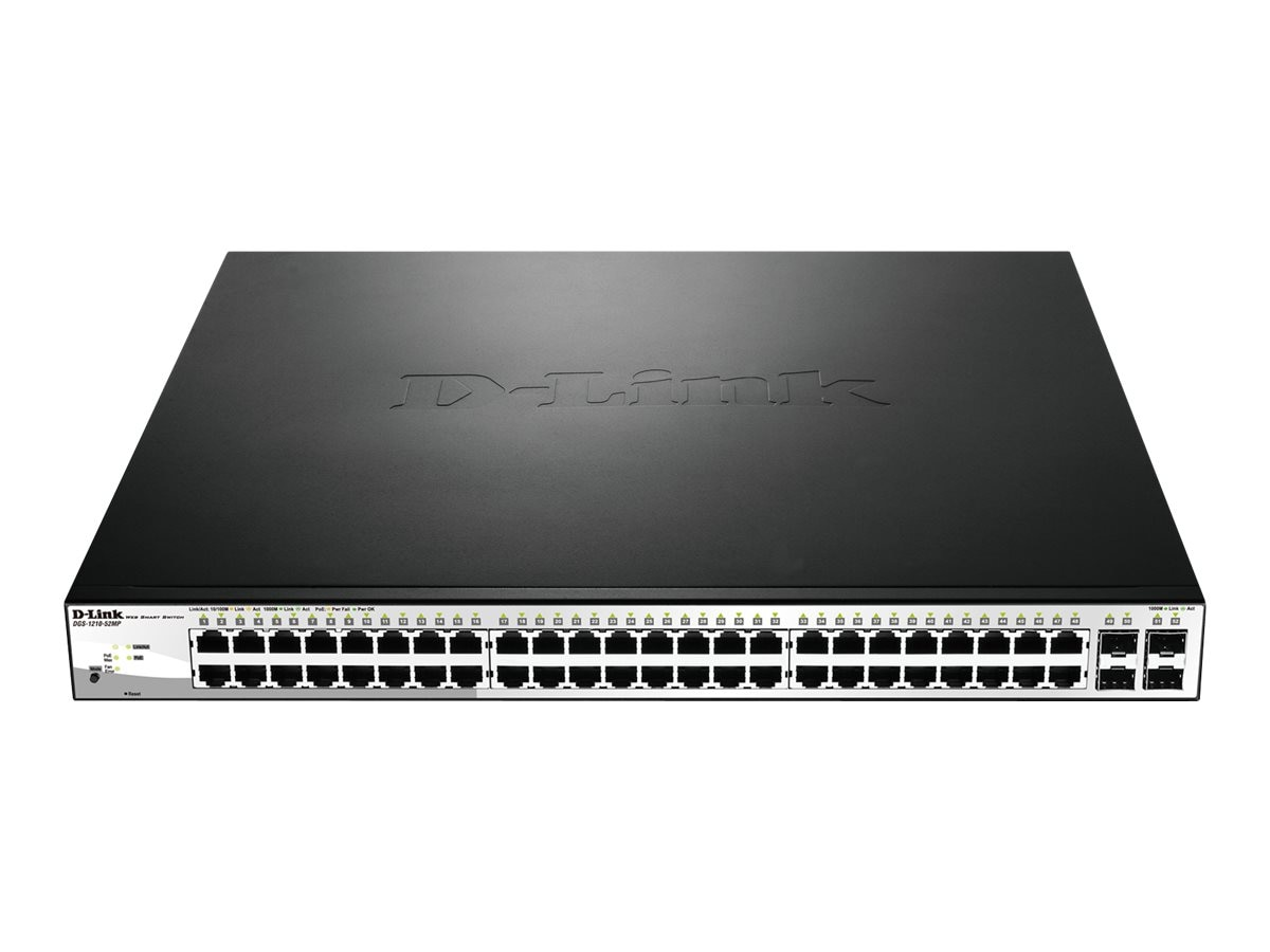 D-Link Web Smart 52 Port Gigabit PoE, DGS-1210-52MP, 18404927, Network Switches