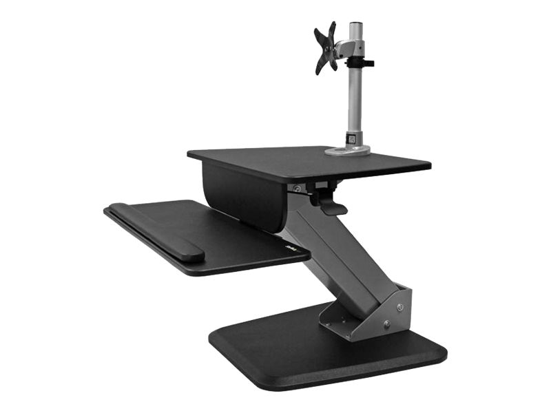 StarTech.com Single Monitor Sit-to-stand Workstation, Black, BNDSTSPIVOT