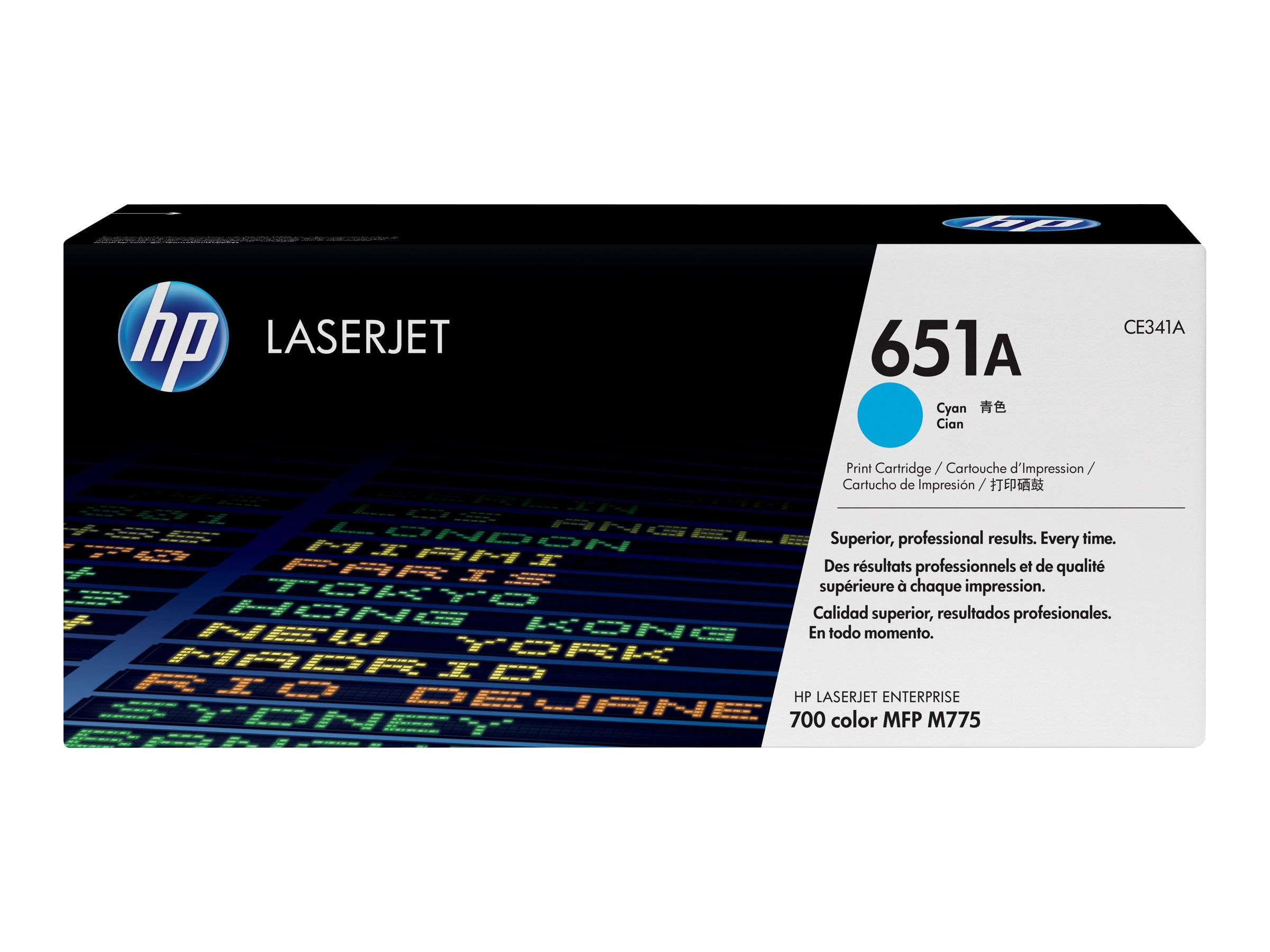 HP 651A (CE341A) Cyan Original LaserJet Toner Cartridge