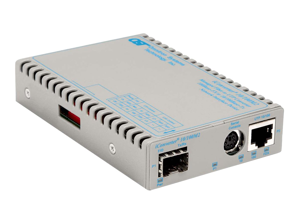 Omnitron iConverter MC 10 100M2 10 100T to  SFP TT w  Management Module, 8919N-0-A, 16492855, Network Transceivers