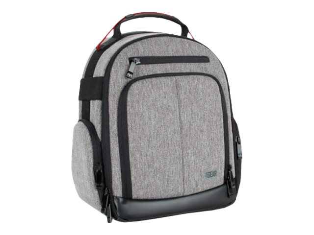 Accessory Genie DSLR Camera Backpack w  Customizable Interior Storage, Gray