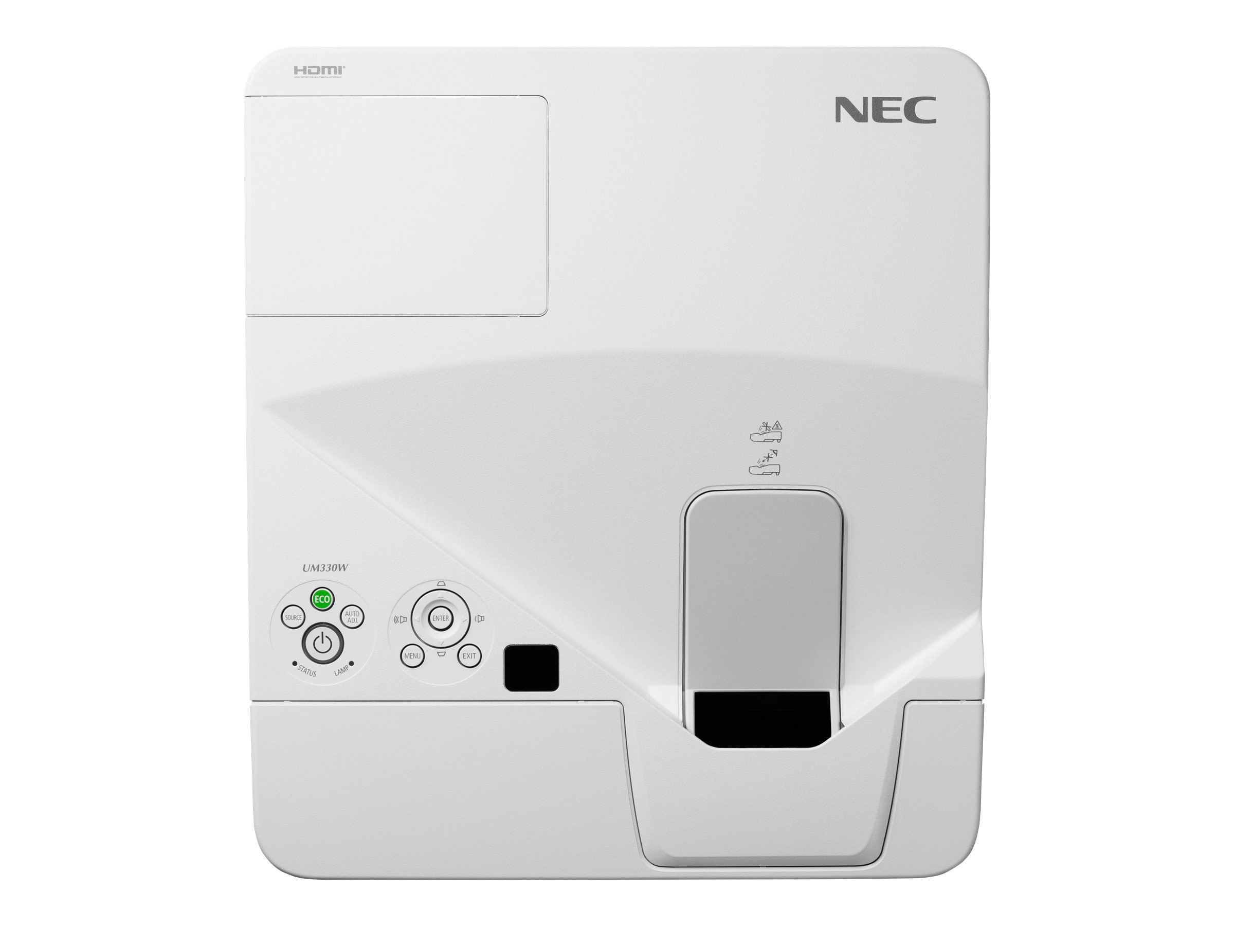 NEC UM330Wi-WK1 WXGA LCD Projector with Wall Mount, 3300 Lumens, White, NP-UM330Wi-WK1