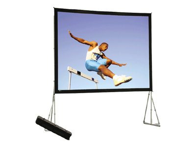 Da-Lite Heavy Duty Fast-Fold Deluxe Projection Screen, Dual Vision, 16:9, 220