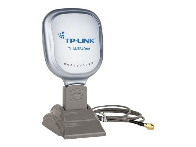 TP-LINK 2.4GHz 6dBi Indoor Directional Antenna, 802.11n b g, RP-SMA Male connector, Wall Mount Desktop, TL-ANT2406A, 13732374, Wireless Antennas & Extenders