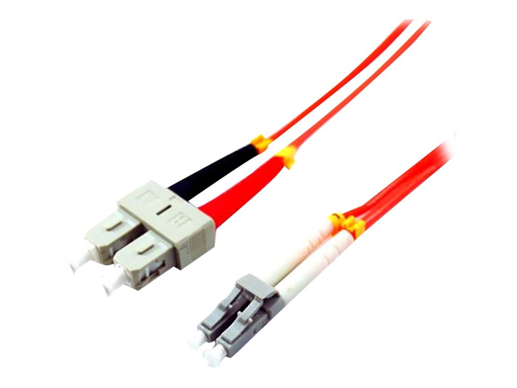 Comprehensive LC-SC 62.5 125 Multimode Duplex Fiber Cable, Orange, 10m