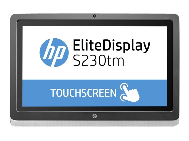 HP 23 S230tm Full HD LED-LCD Touchscreen Monitor with Webcam, Black, E4S03AA#ABA, 16729525, Monitors - LED-LCD