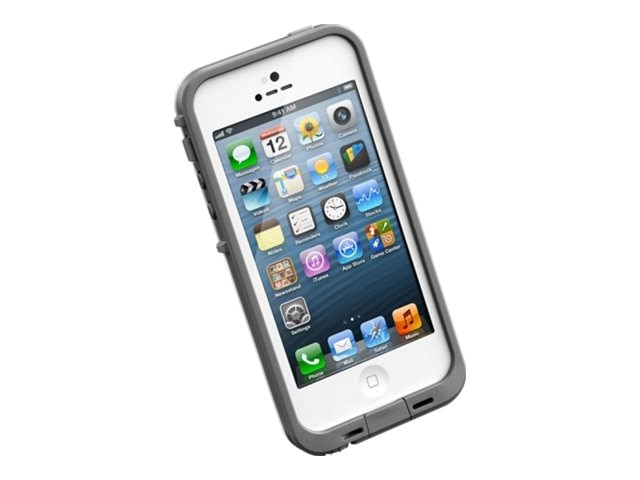 Lifeproof fre Case for iPhone 5 5S, White Gray, 2115-02, 18621892, Carrying Cases - Phones/PDAs