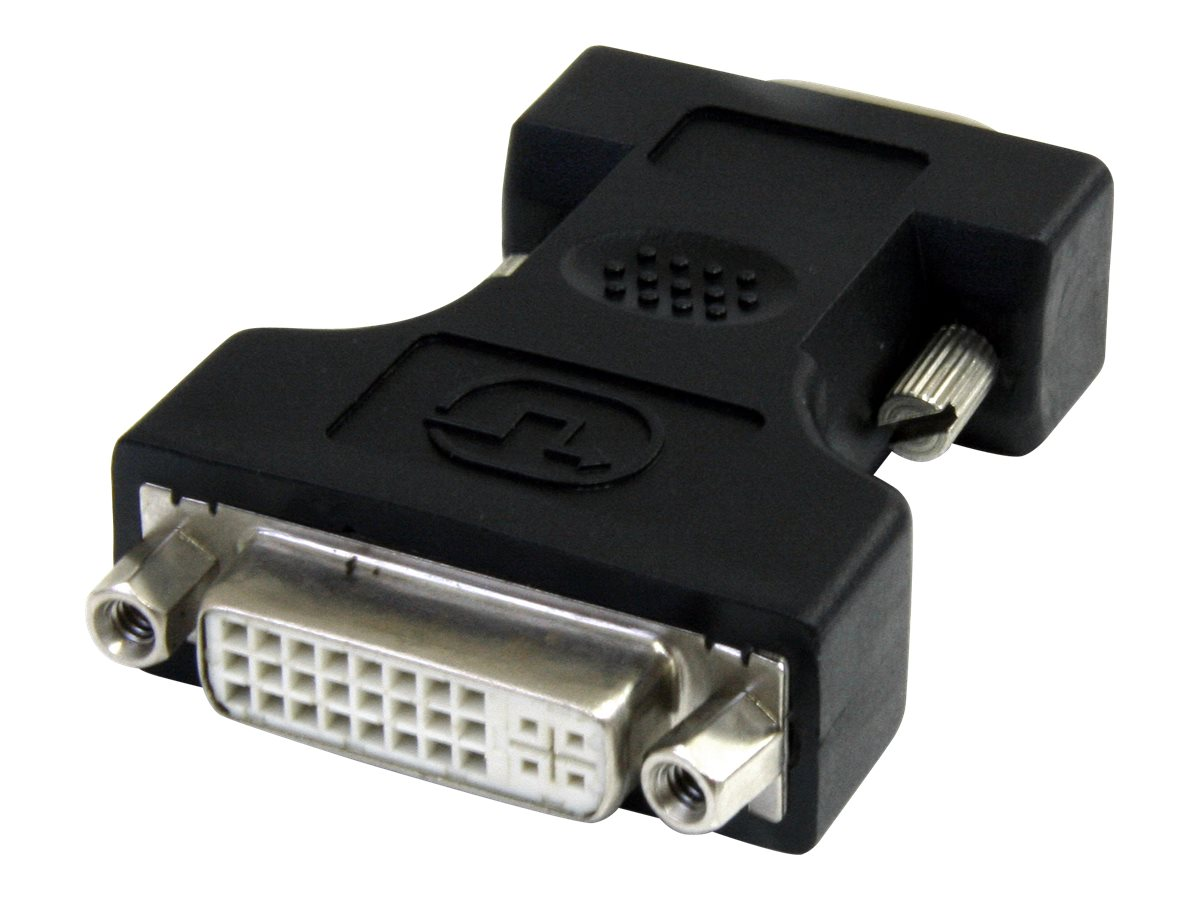 StarTech.com DVI to VGA Cable Adapter (F-M), Black, DVIVGAFMBK, 12396920, Adapters & Port Converters