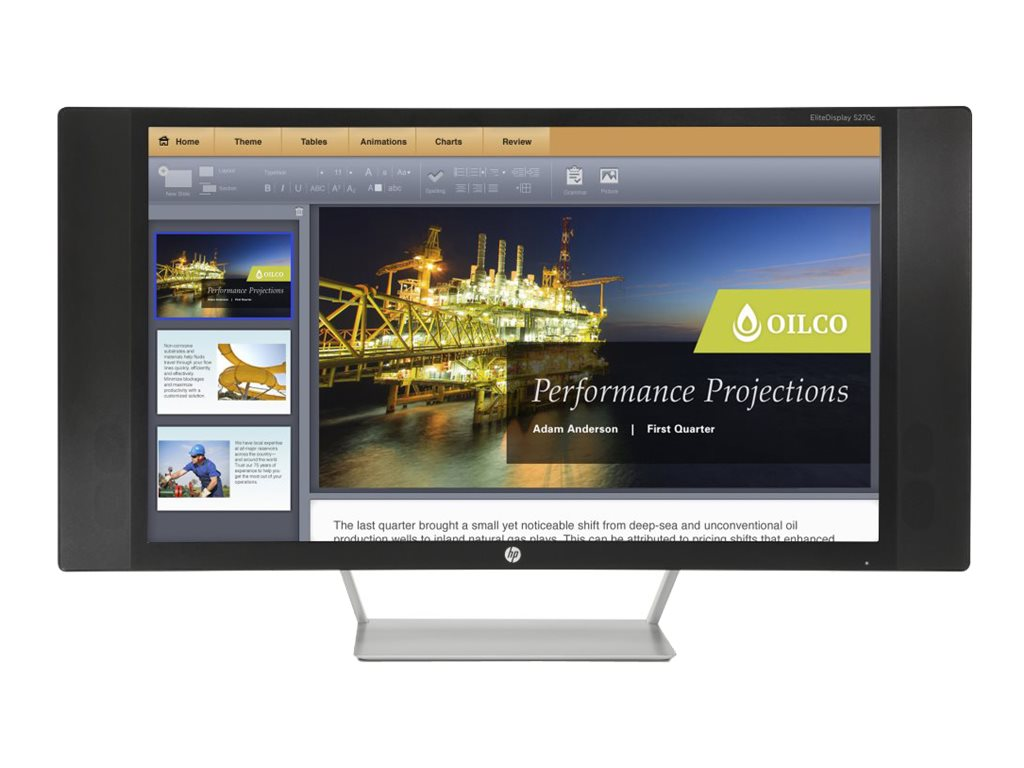 HP 27 S270c Full HD LED-LCD Curved Display, Black, K1M38A8#ABA