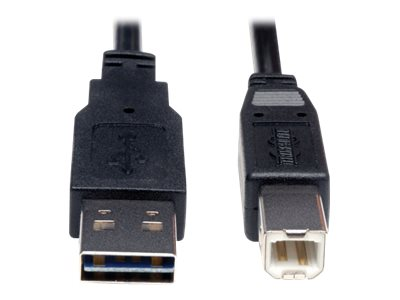 Tripp Lite Universal Reversible USB 2.0 A-Male to B-Male Device Cable, 6ft, UR022-006, 16130985, Cables
