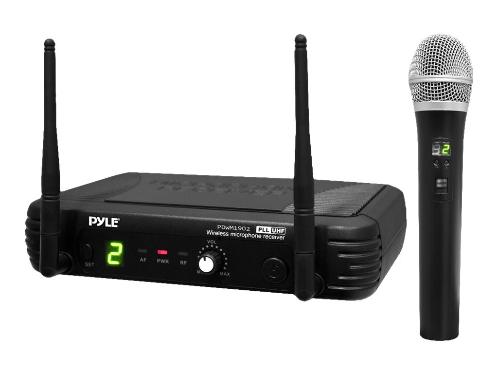 Pyle Premier Series Professional UHF Wireless Handheld Microphone System with Selectable Frequencies, PDWM1902, 16549129, Music Hardware