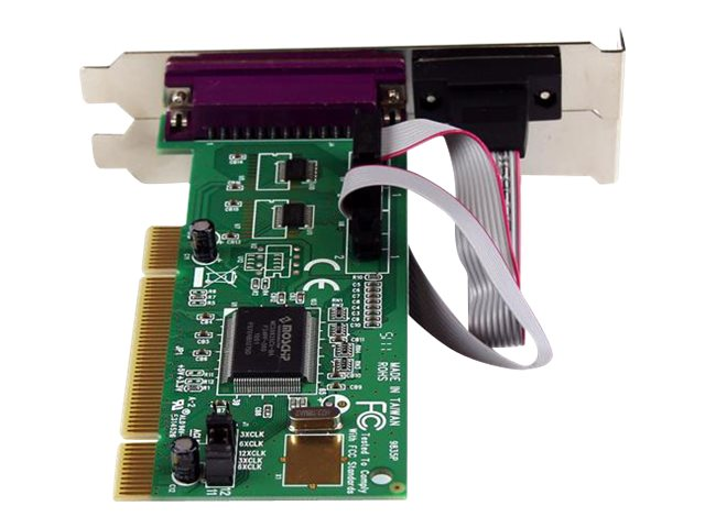 StarTech.com PCI Combo I O Controller Card, 2 Serial Ports, 1 Parallel IEEE 1284 Port, Plug & Play, PCI2S1P