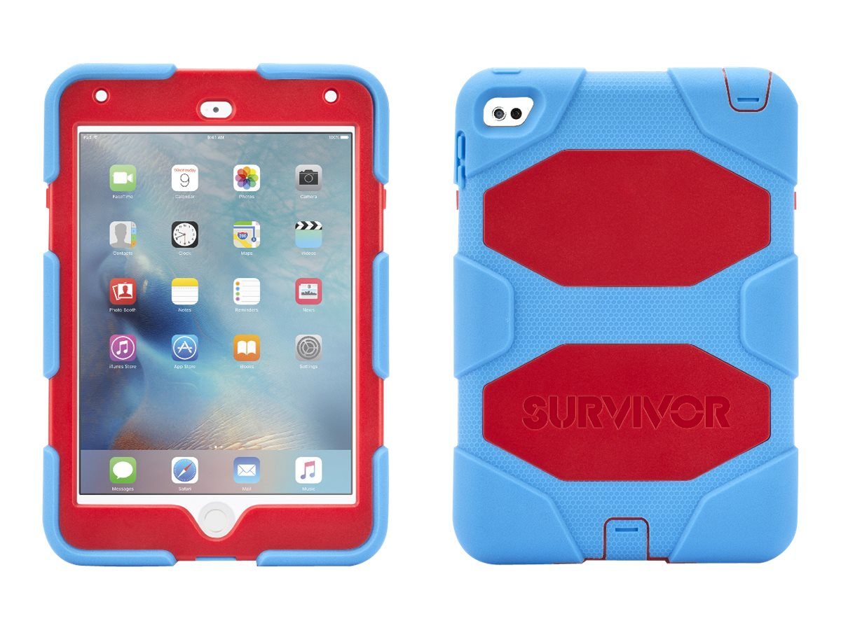 Griffin Survivor AT for iPad mini 4, Blue Red