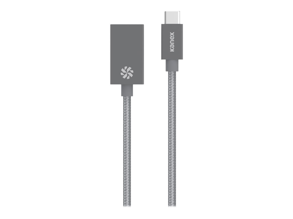 Kanex USB 3.0 Type-C to Type-A M F Adapter, Gray, 8, KU3CAPV1-SG