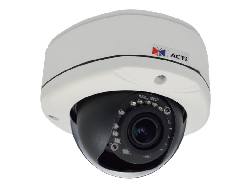 Acti 1MP Outdoor Dome with D N, Adaptive IR, Basic WDR, Vari-focal lens