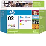 HP 02 Ink Cartridge Color Combo Pack, CC604FN#140, 8333459, Ink Cartridges &amp; Ink Refill Kits