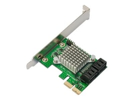 Addonics Internal 6G 4-Port SATA PCIe Controller, AD4SA6GPX2, 31017649, Controller Cards & I/O Boards