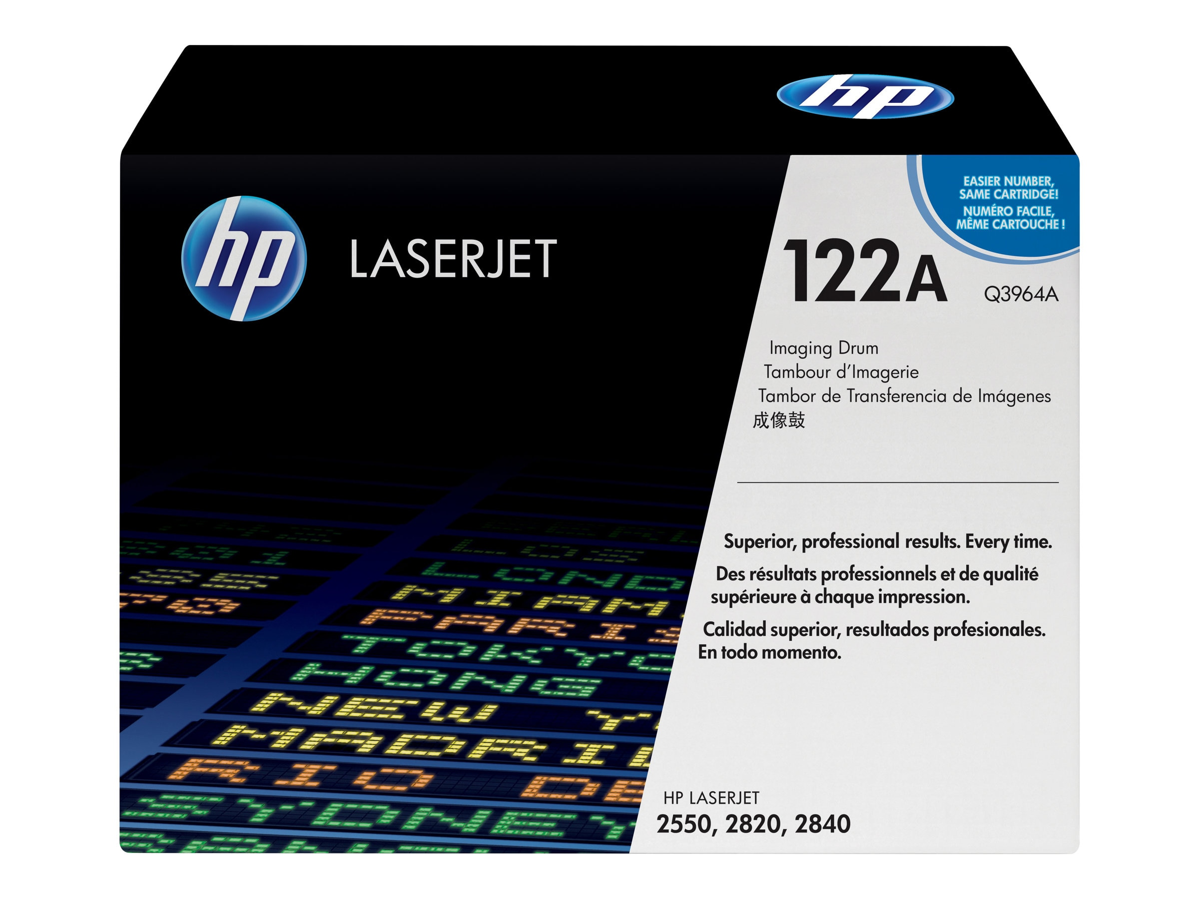 HP 122A Imaging Drum for HP Color LaserJet 2550n Printer & HP 2840 All-In-One