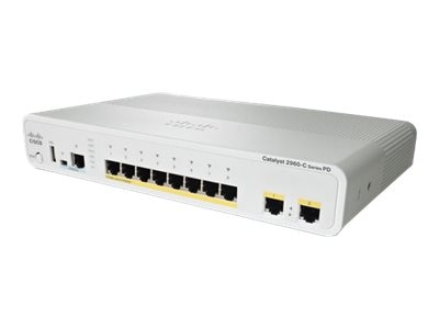 Cisco Catalyst 2960C PD PSE Switch-8 FE POE 2 X 1G LAN Base, WS-C2960CPD-8PT-L, 12809456, Network Switches